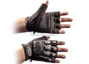 V-Tac Armored Half Finger Gloves (Black/Medium - Large)