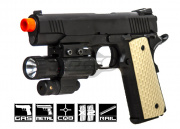 WE 5.1 1911 Night Warrior Pistol GBB Airsoft Gun Two Magazine Package (Black)