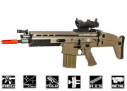 WE Full Metal SCAR-H MK17 CQC AEG Airsoft Gun (Tan)