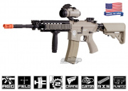Airsoft GI G4-A5 Desert Knight Carbine Blowback Version AEG Airsoft Gun (Tan/Custom)