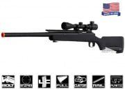Airsoft GI Full Metal G700G Upgraded Bolt Action Sniper Rifle Airsoft Gun (Black/Scope Package)