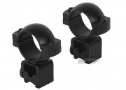 "Airsoft GI Medium Profile 1"" Scope Rings for Dovetail Rail"