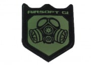 Airsoft GI Gas Mask Shield Patch Velcro (OD Green)