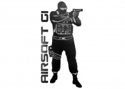Airsoft GI Operator Sticker (Black)