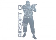 Airsoft GI Operator Sticker (Silver)