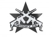 Airsoft GI Battle Star Sticker (Black)