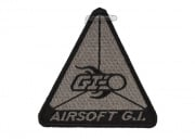 Airsoft GI Flaming BB Triangle Patch Velcro (Black/Gray)