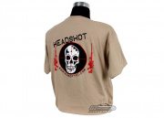 Airsoft GI Headshot T-Shirt (Tan/S/M/L/XL/XXL)