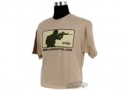 Airsoft GI Major League T-Shirt ( Tan / XXL )