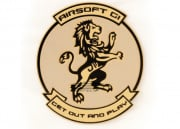 Airsoft GI Lion PVC Patch (Tan)