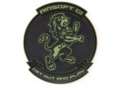 Airsoft GI Lion PVC Patch (OD Green)