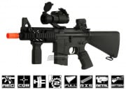 AGM Full Metal M4 CQB RIS AEG Airsoft Gun ( Ver.2 w/ Gas Block & Full Stock )