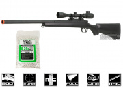 AGM Full Metal MP-001 Bolt Action Sniper Rifle Airsoft Gun (BLK/Scope/BBs Package)
