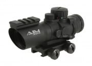 * Discontinued * AIM Sports 4x32 Tri-Illuminated Scope w/ Single Weaver Rail (Ver.2)