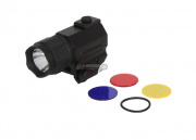 AIM Sports 150 Lumens Sub-Compact Flashlight w/ 3 Color Filter Lenses