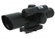 AIM Sports 2.5-10x40 Dual Illuminated Scope (w/ Green Laser)