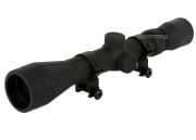 AIM Sports 3-9x40 Rubber Armored Scope (Scope Rings & P4 Sniper Reticle)