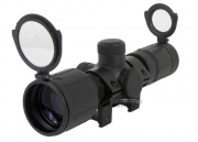 AIM Sports 3-9x40 Rubber Armored Scope (Red/Green Illuminated w/ Scope Rings)