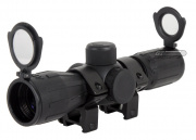 AIM Sports 4x30 Red/Green Rubber Armored Scope w/ Scope Rings