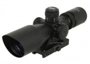 AIM Sports 2.5-10x40 QD Scope (Cut Sunshade & Red/Green P4 Sniper Reticle)