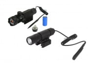 AIM Sports 90 Lumens Flashlight w/ AIM Sports Green Laser Package