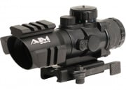 AIM Sports 4x32 Tri-Illuminated Scope w/ Tri-Rail RR Reticle & QD Mount