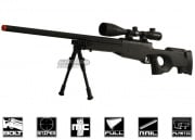Bravo Full Metal MK98 Bolt Action Sniper Rifle Airsoft Gun (Black/Bipod Package)