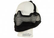 Bravo V2 Strike Metal Mesh Lower Face Mask (Black)