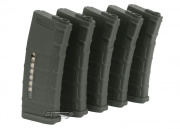 Beta Project Magpul PTS M4/M16 75 rd. AEG Mid Capacity P-Mag Magazine - 5 Pack (OD Green)