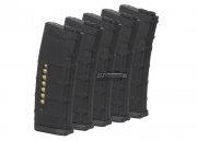 Beta Project Magpul PTS M4/M16 75rd Mid Capacity AEG Magazine (5 Pack/P-Mag/Black)