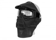 Bravo Modular Full Face Mask with Lens Goggle & Neck Protection ( Black )