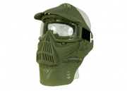Bravo Modular Full Face Mask w/ Lens Goggle & Neck Protection (OD Green)