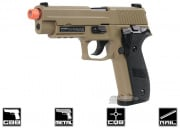 Full Metal SIG 226 Blowback Pistol Airsoft Gun (Threaded Adapter/Tan) Licensed by Cybergun