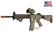 Airsoft GI Desert G4-18 Carbine w/ Daniel Defense SOPMOD RIS Blowback Version AEG Airsoft Gun ( TAN )