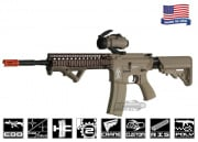 Airsoft GI Desert G4-18 Carbine w/ Daniel Defense SOPMOD RIS Blowback Version AEG Airsoft Gun (TAN/No Iron SIghts)