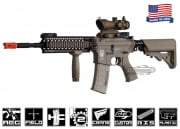 "Airsoft GI Desert G4-A1 w/ Daniel Defense 9"" Lite Rail Blowback Version AEG Airsoft Gun (Custom/Tan)"