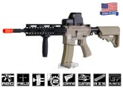 "Airsoft GI Desert G4-A1 Hard w/ Noveske 10"" Rail Blowback Version AEG Airsoft Gun ( Tan / Custom )"