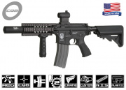 Airsoft GI G4-A2 Silent Death Blowback Version AEG Airsoft Gun (Black) CQB Version
