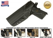 G-Code XST Standard Holster for 1911 w/ Rail (Non-RTI/Left Hand/HOLSTER ONLY) Black