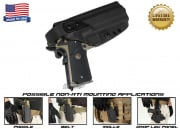 G-Code XST Non-RTI 1911 w/ Rail Standard Right Hand Holster (Black)