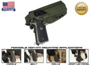 G-Code XST Non-RTI 1911 w/ Rail Standard Right Hand Holster (OD Green)