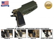 G-Code OSH Standard Holster for 1911 w/ Rail (Non-RTI/Right Hand/HOLSTER ONLY) OD