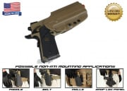 G-Code OSH Non-RTI 1911 w/ Rail Standard Right Hand Holster ( Coyote )