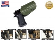 G-Code OSH Standard Holster for Beretta M9 and M9 w/ Rail (Non-RTI/Right Hand/HOLSTER ONLY) OD