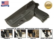 G-Code XST Standard Holster for Beretta M9 and M9 w/ Rail (Non-RTI/Left Hand/HOLSTER ONLY) Black