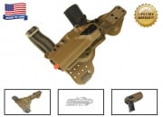 G-Code REAC RTI Tactical Drop Leg Panel & XST 1911 w/ Rail Right Hand Holster (Coyote)