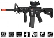 Combat Machine M4 Raider with Polymer RIS AEG Airsoft Gun ( Black )