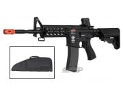 Combat Machine M4 Raider with Polymer RIS AEG Airsoft Gun (Black) (Battery and Charger Package) (Gun Bag Combo)