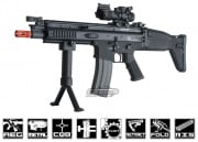 FN Herstal Full Metal SCAR CQC Carbine AEG Airsoft Gun by G&G  ( Black )