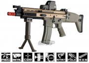 FN Herstal Full Metal SCAR CQC AEG Airsoft Gun By G&G (Tan)